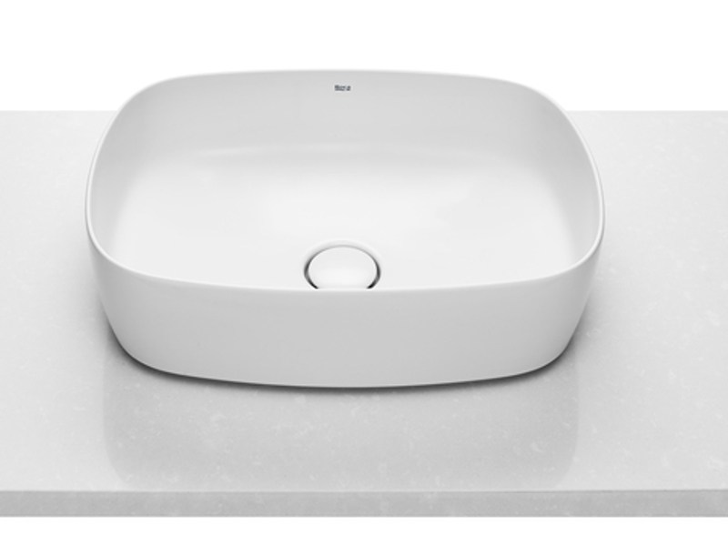 Countertop single ceramic washbasin SOFT by ROCA SANITARIO
