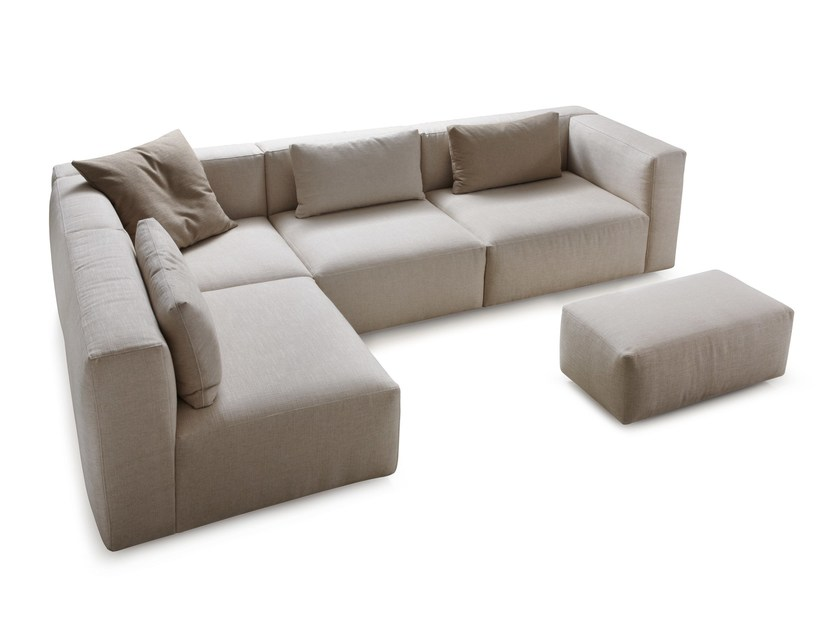 Corner modular fabric sofa SOFT | Corner sofa by Papadatos