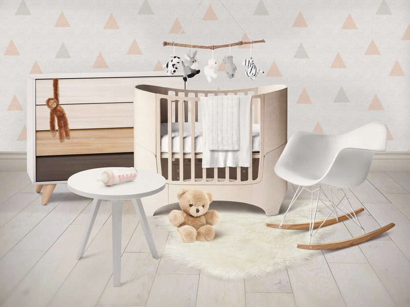 Adhesive washable kids wallpaper SOFT TRIANGLES by Wall LCA