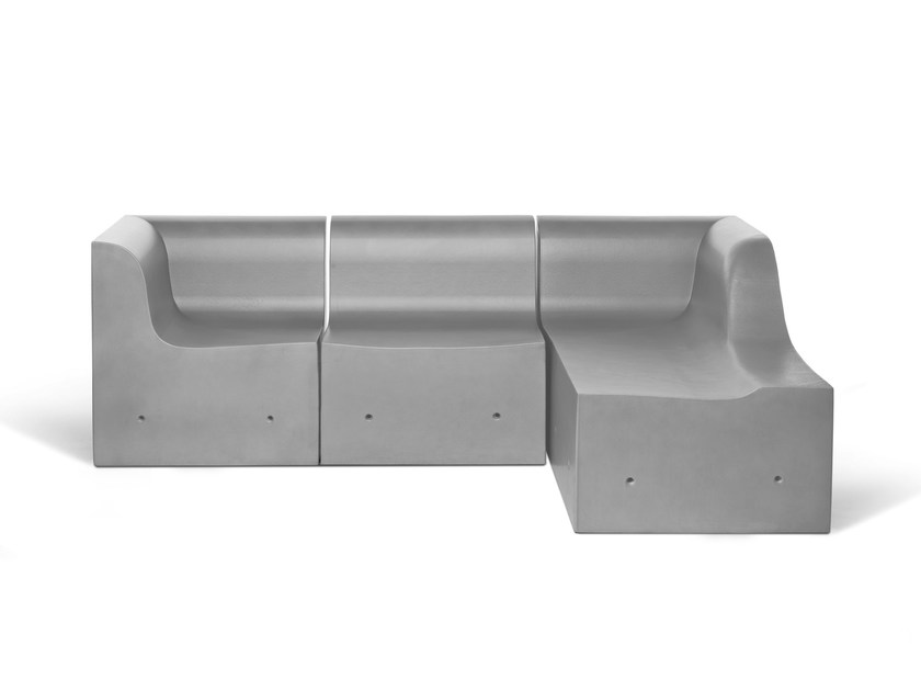Modular sofa SOFTCRETE | Day bed by Gufram