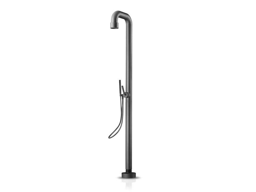 Floor standing steel shower panel SOHO 02 by JEE-O