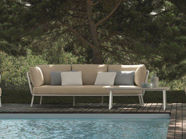 Fabric Garden Sofa With Removable Cover SOHO | 3 Seater Garden Sofa By  Talenti