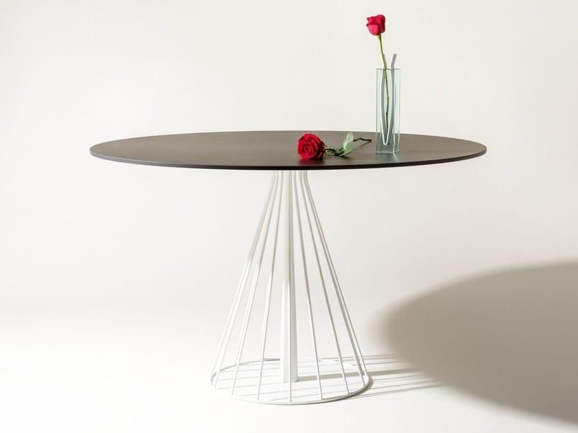 Round Laminam® table SOHO BISTROT by Elli Design