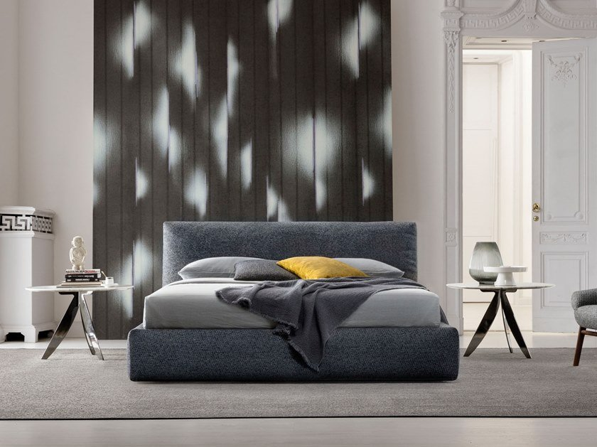 Fabric bed with upholstered headboard SOHO by BertO