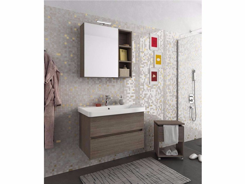 Wall-mounted vanity unit with drawers SOHO S1 by LEGNOBAGNO