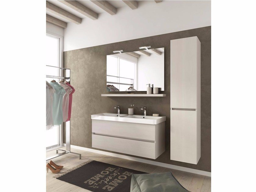 Wall-mounted vanity unit with drawers SOHO S15 by LEGNOBAGNO