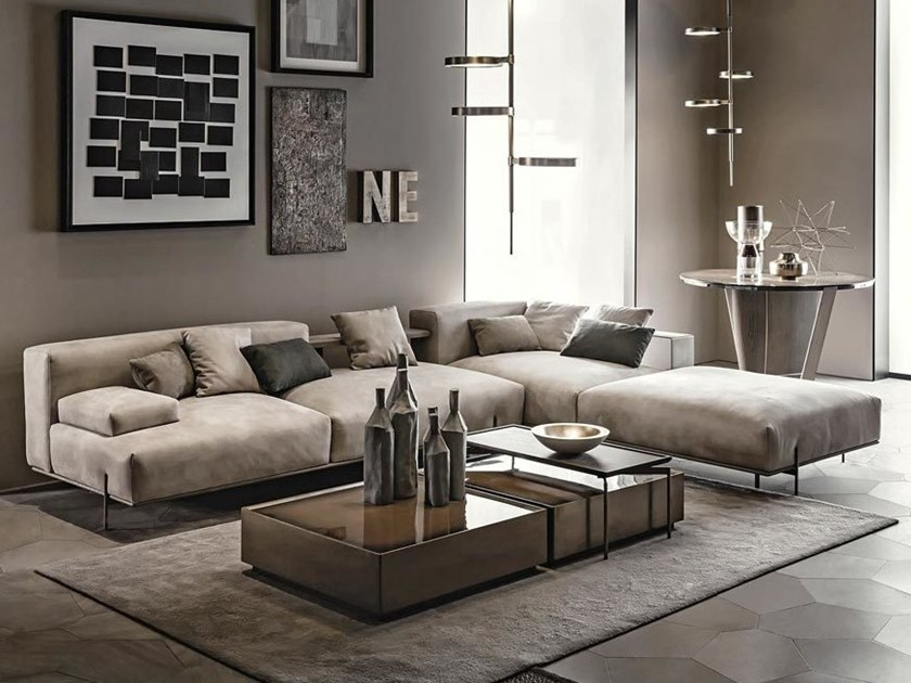 Sectional Modular Leather Sofa Soho By