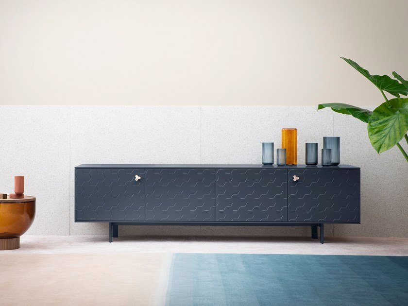 Wooden sideboard with doors SOKO by Miniforms