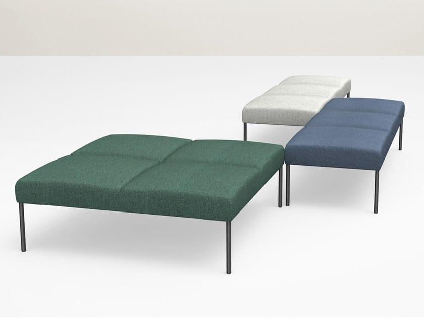 Upholstered modular bench NOORA | Bench by Martela