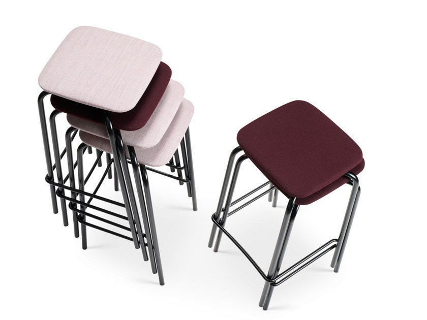 Upholstered stackable stool GRIP NXT   Upholstered stool by Martela