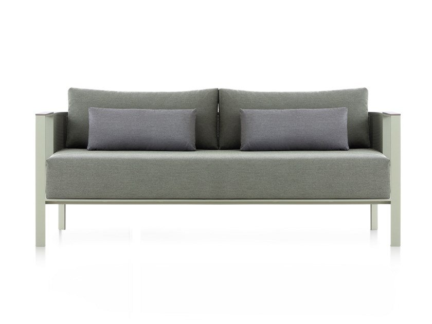 3 seater thermo lacquered aluminium sofa SOLANAS | 3 seater sofa by GANDIA BLASCO