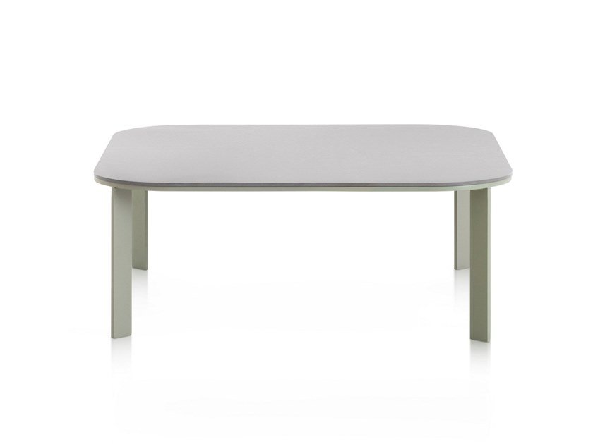 Square thermo lacquered aluminium garden side table SOLANAS | Coffee table by GANDIA BLASCO