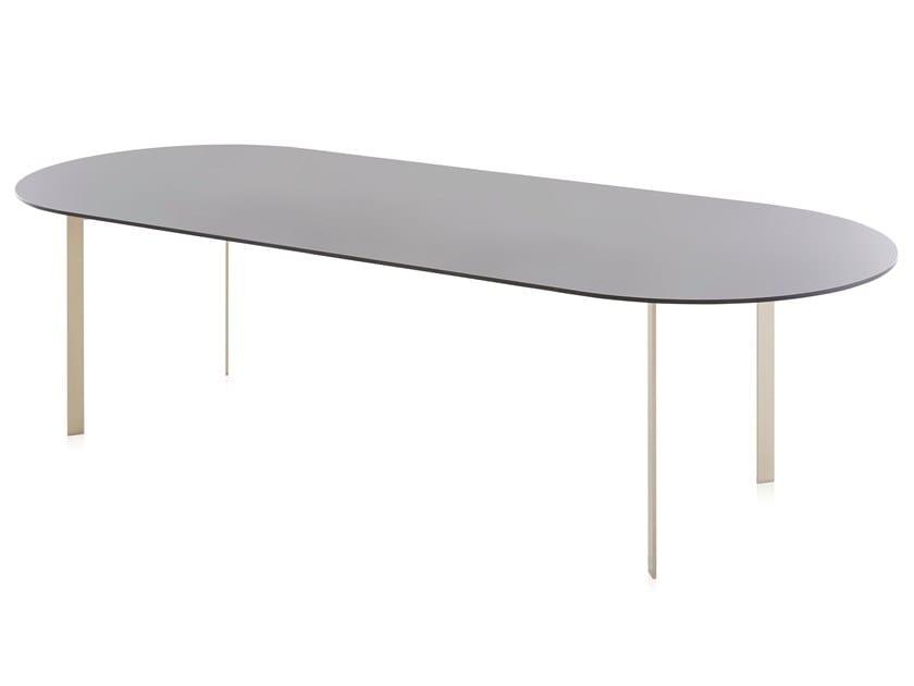 Oval Dekton® table SOLANAS   Table by GANDIABLASCO