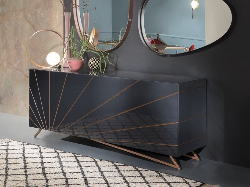 Lacquered sideboard with doors SOLARIS by RIFLESSI
