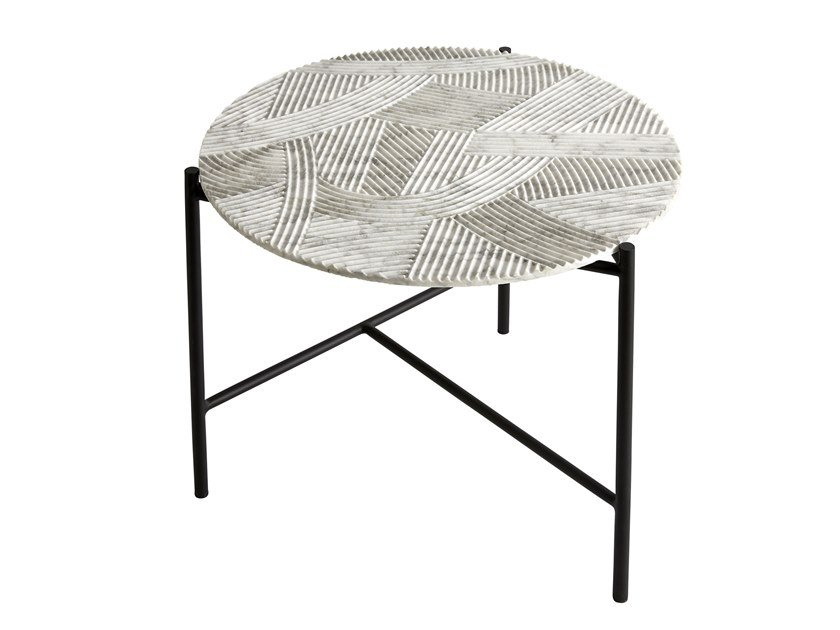 Round Carrara marble coffee table for living room SOLCO | Coffee table by RADAR INTERIOR