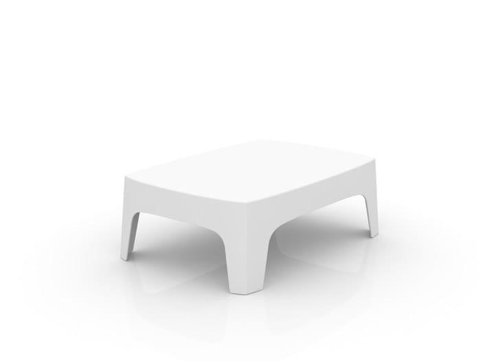 Low rectangular garden side table SOLID | Garden side table by VONDOM