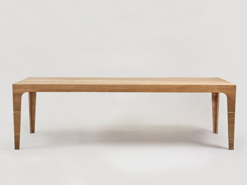 Rectangular wooden table SOLID by Morgen