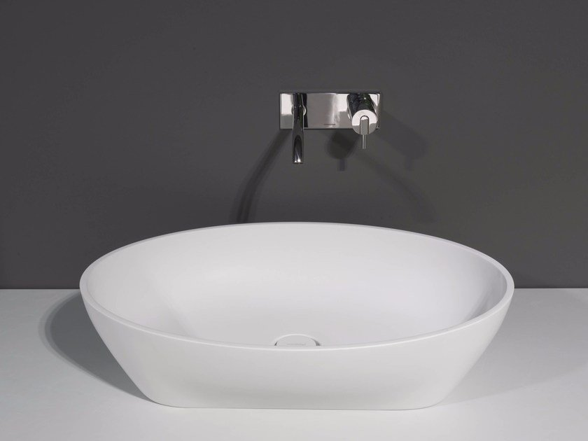 Countertop Cristalplant® washbasin SOLIDEA by Antonio Lupi Design