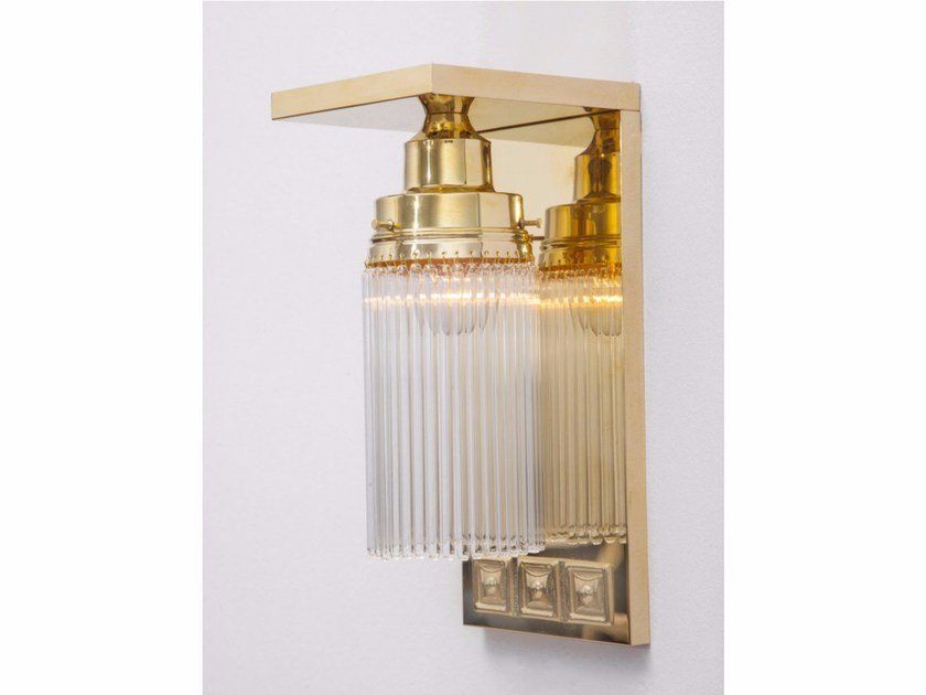 Direct-indirect light brass wall lamp SOLO A 4   Wall lamp by Patinas Lighting