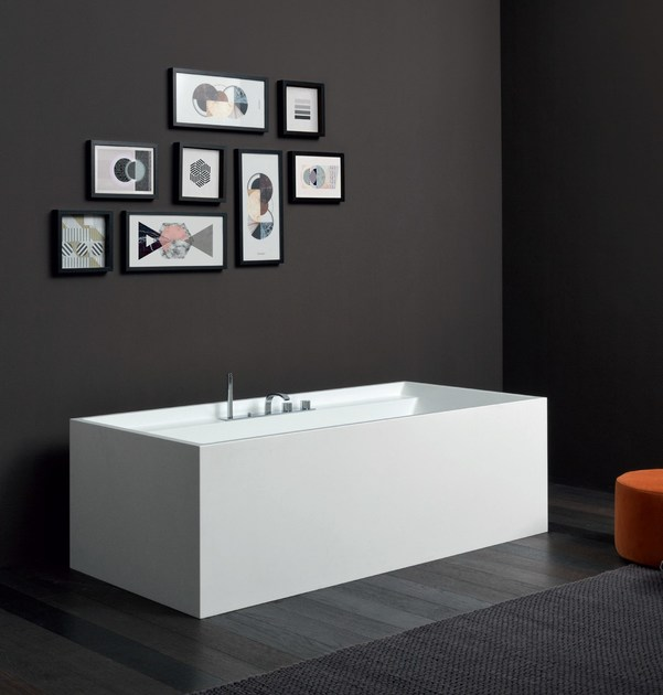 4 hole bathtub set with hand shower SOLO   Bathtub set Solo ...