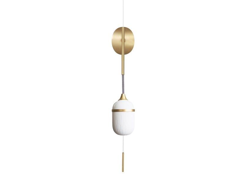 LED porcelain wall light SOLO FLEUR DE KAOLIN by designheure
