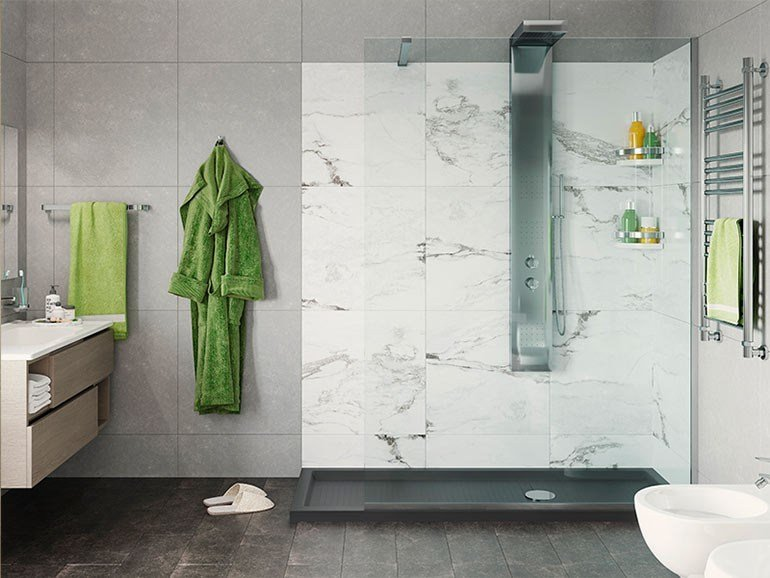 Rectangular shower cabin SOLUZIONE EUROPA by Remail by G.D.L.