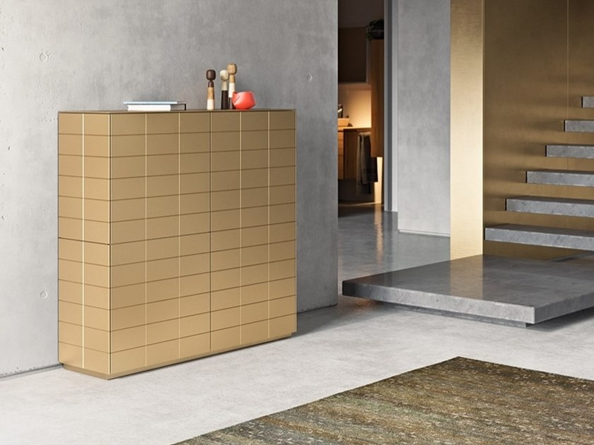 Lacquered metal highboard with doors SOMA | Metal highboard by Kettnaker