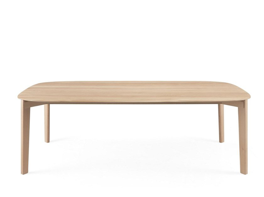 Rectangular wooden table SOMA by Wewood