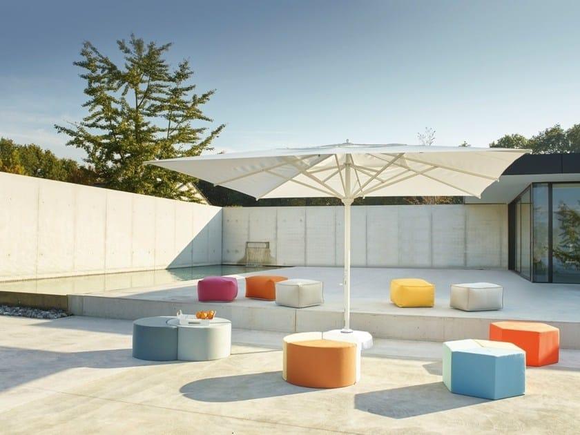 Square acrylic Garden umbrella SOMBRERO JUMBO by Jardinico