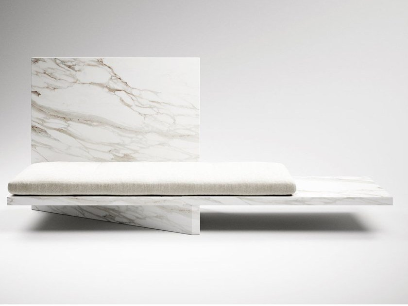 Marble bench SOME ARE BORN TO SWEET DELIGHT by CLASTE