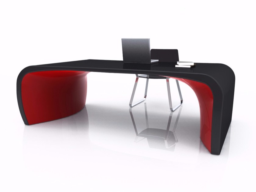 Lacquered Adamantx® workstation desk SONAR by ZAD ITALY