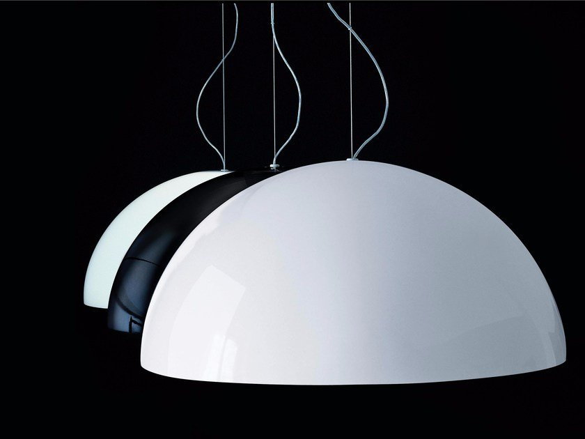 Direct light PMMA pendant lamp SONORA - 490/493 by Oluce