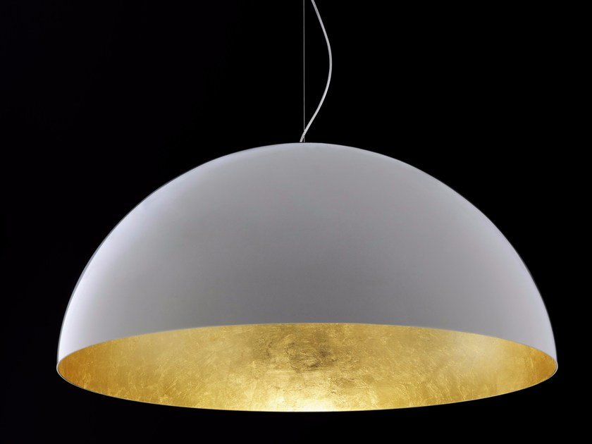 Direct light gold leaf and PMMA pendant lamp SONORA - 490/OR by Oluce