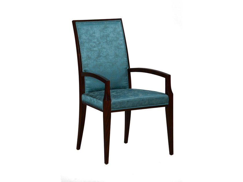 Upholstered chair with armrests SOPHIA | Chair with armrests by SELVA