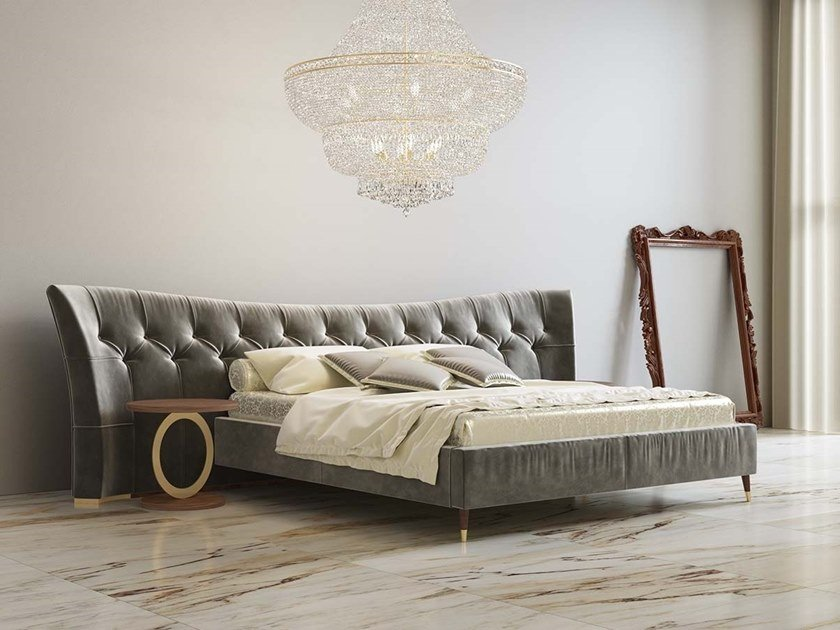 Bed double bed with tufted headboard SOPHIE by Scandal