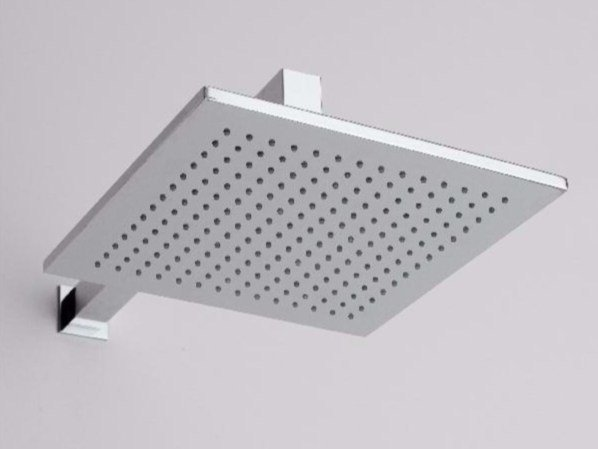 Wall-mounted rain shower with arm SOQQUADRO | Overhead shower by ZAZZERI