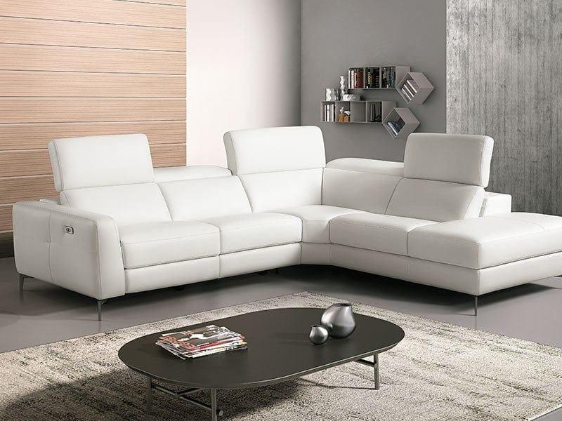 Corner sofa with chaise longue SORESSI By Franco Ferri Italia