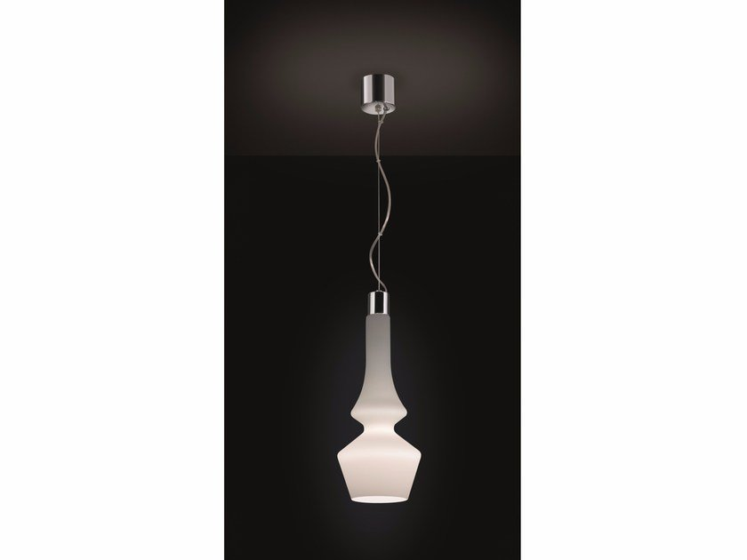 Direct light satin glass pendant lamp SORRENTO | Pendant lamp by IDL EXPORT