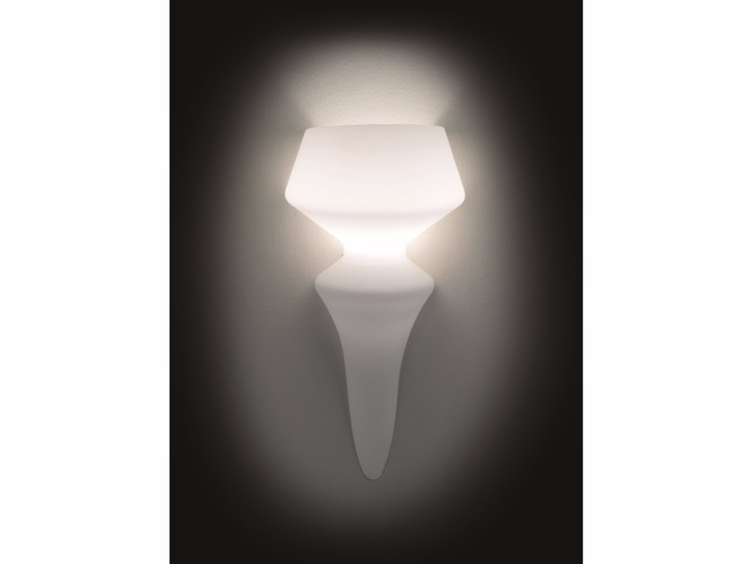 Indirect light satin glass wall light SORRENTO | Wall light by IDL EXPORT