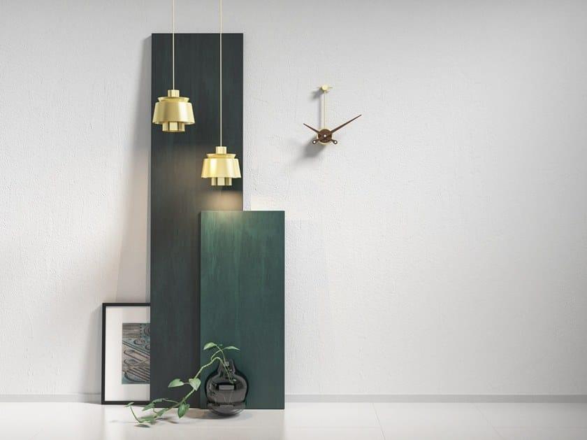 Wall-mounted metal clock SOSPESO by Materium