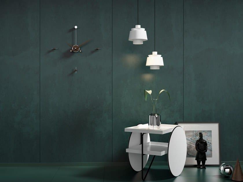 Wall-mounted metal clock SOSPESO PLUS by Materium