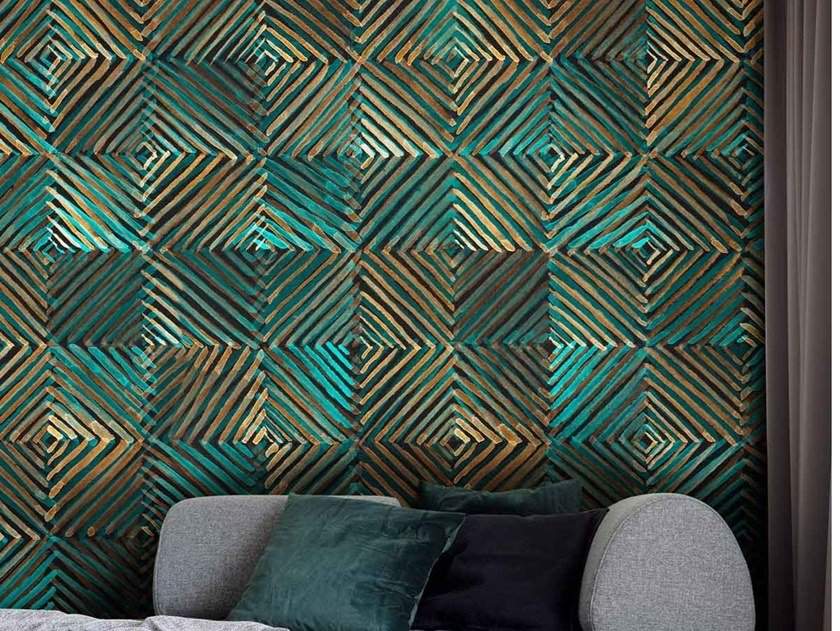 Modern wallpaper, eco-friendly, PVC free and washable SOTT'ACQUA by Wallpepper Group