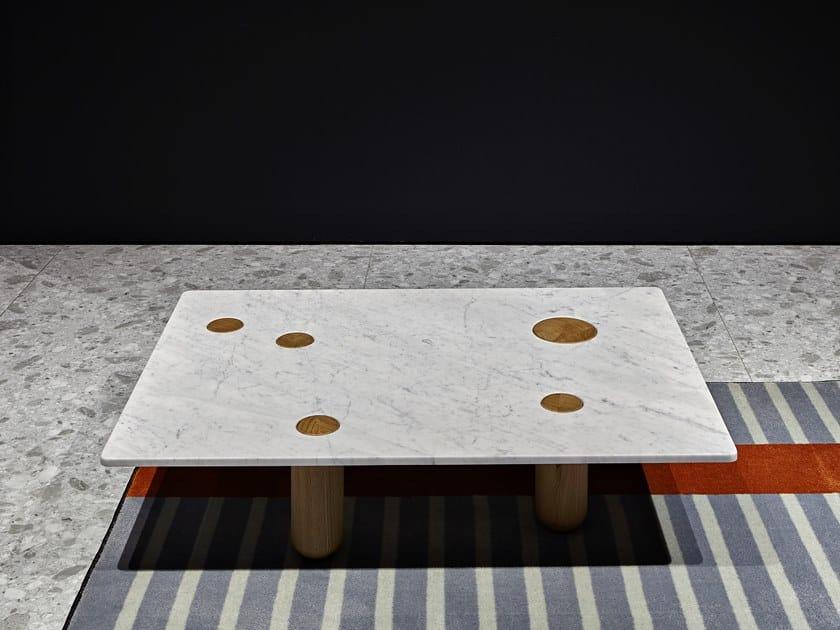 Mesita rectangular de mármol de Carrara SOTTOSOPRA by Antonio Lupi Design