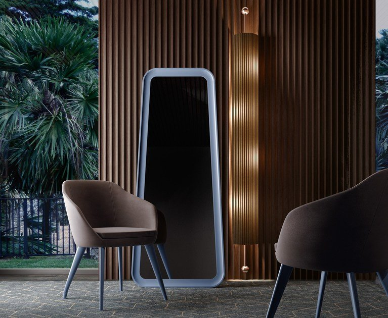 Specchio da appoggio da terra in stile moderno con cornice SOUL | Specchio da terra by Caroti