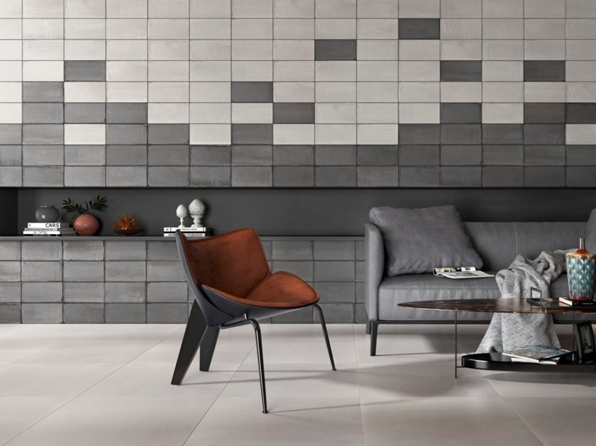 Porcelain stoneware wall/floor tiles with concrete effect SOUL by RECER