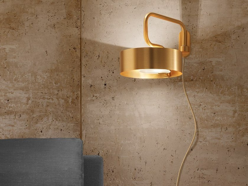 Direct light metal wall lamp with fixed arm SOUND A1 by Masiero