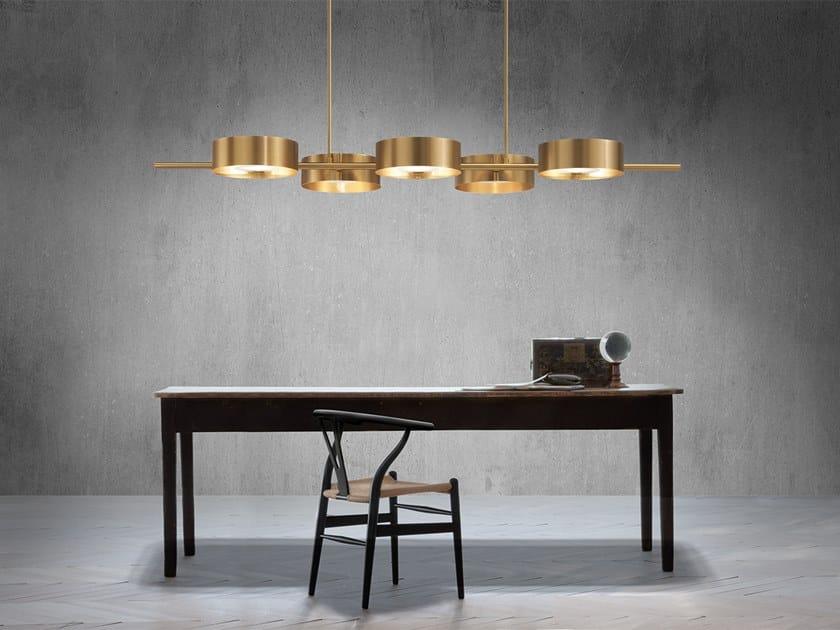 Direct light metal pendant lamp SOUND BIL5 by Masiero