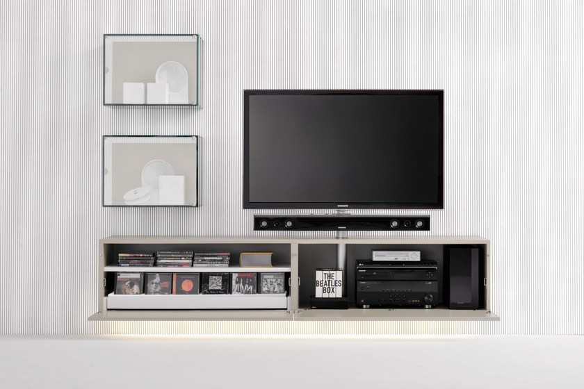 SOUND SYSTEM | Mobile TV sospeso Collezione Graphos By Silenia