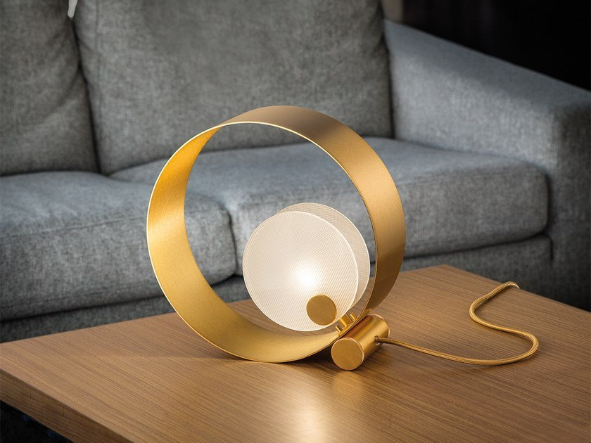 Direct light metal table lamp SOUND TL1 by Masiero