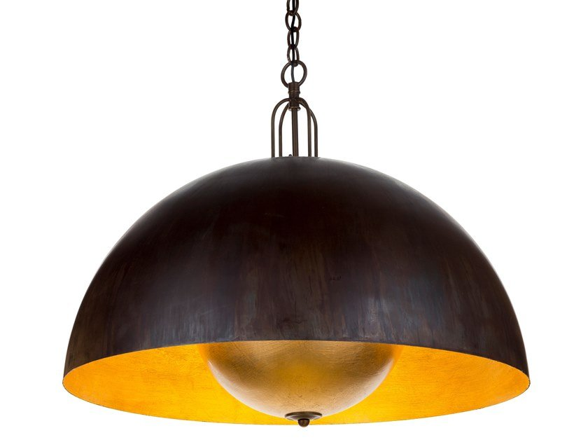 LED iron pendant lamp with speaker and bluetooth SOUNDLIGHT 01 by Il Bronzetto